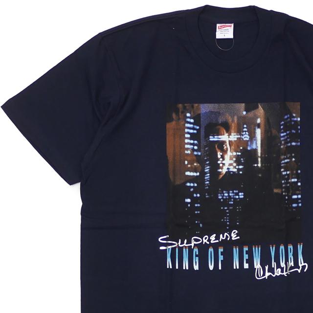 [次回のお買い物で使える500円OFFクーポン配布中!! 4/30(火)まで!!] シュプリーム SUPREME 19SS Christopher Walken King Of New York Tee Tシャツ NAVY ネイビー 紺 メンズ 【新品】 2019SS 200008084047
