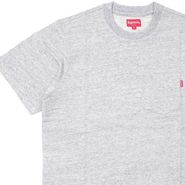 [次回のお買い物で使える500円OFFクーポン配布中!! 4/30(火)まで!!] シュプリーム SUPREME 19SS S/S Pocket Tee Tシャツ GRAY グレー 灰色 メンズ 【新品】 2019SS 202001052032