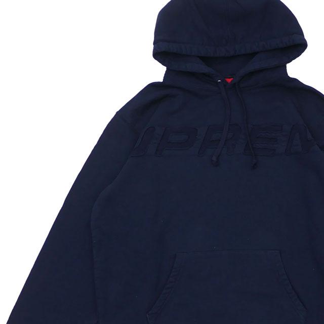 [次回のお買い物で使える500円OFFクーポン配布中!! 4/30(火)まで!!] シュプリーム SUPREME 19SS Set In Logo Hooded Sweatshirt スウェット パーカー NAVY ネイビー メンズ 【新品】 2019SS 418000702057