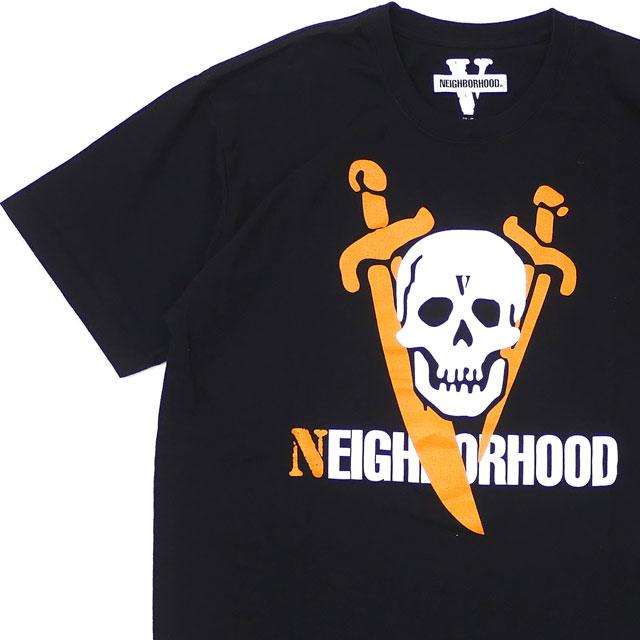 [次回のお買い物で使える500円OFFクーポン配布中!! 4/30(火)まで!!] ネイバーフッド NEIGHBORHOOD x ヴィーローン VLONE 19SS NHVL.T-2/C-TEE.SS Tシャツ BLACK ブラック 黒 メンズ 【新品】 2019SS 200008126041