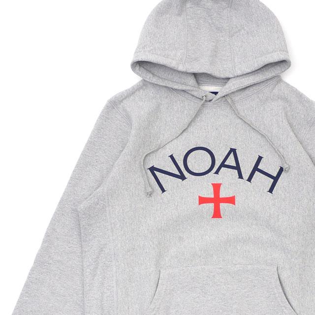 [次回のお買い物で使える500円OFFクーポン配布中!! 4/30(火)まで!!] ノア NOAH 19SS Core Logo Hoodie フーディー スウェット パーカー GRAY グレー 灰色 メンズ 【新品】 2019SS 211000637052
