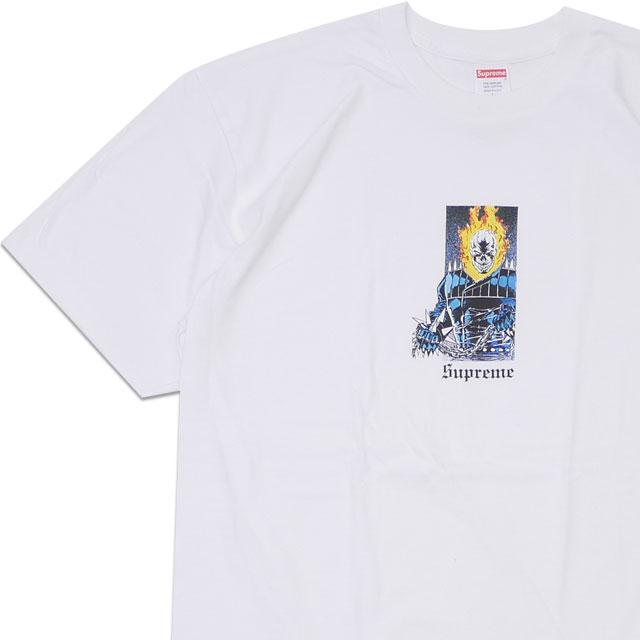 [次回のお買い物で使える500円OFFクーポン配布中!! 4/30(火)まで!!] 新品 シュプリーム SUPREME 19SS Ghost Rider Tee Tシャツ WHITE ホワイト 白 メンズ 新作 2019SS 200008147050