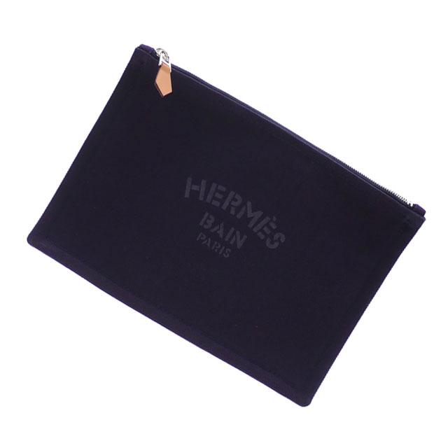 新品 エルメス HERMES YACHTING PM FLAT PORCH クラッチバッグ ポーチ NOCTURNE メンズ レディース 288001193017