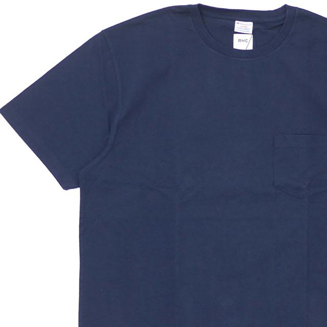 [次回のお買い物で使える500円OFFクーポン配布中!! 4/30(火)まで!!] 新品 ロンハーマン RHC Ron Herman x チャンピオン Champion S/S POCKET TEE Tシャツ NAVY ネイビー 紺 メンズ 新作 200008150057