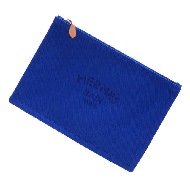 新品 エルメス HERMES YACHTING PM FLAT PORCH クラッチバッグ ポーチ BLEU SMALT メンズ レディース 288001193014