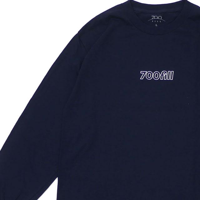 新品 セブンハンドレッドフィル 700fill Payment Logo L/S Tee 長袖Tシャツ NAVY ネイビー 紺 メンズ 新作 202001071057 700フィル
