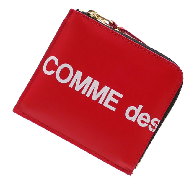 新品 コムデギャルソン COMME des GARCONS Huge Logo Coin Case コインケース RED レッド 赤 メンズ レディース 新作 272000177013