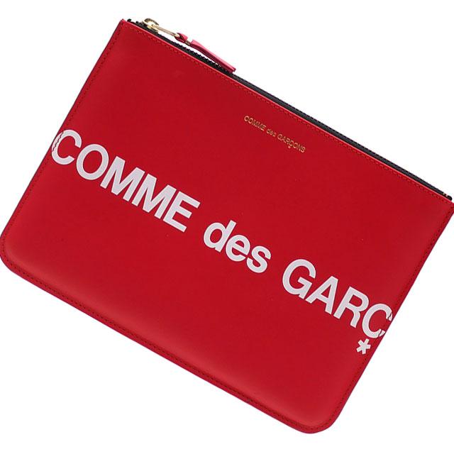 新品 コムデギャルソン COMME des GARCONS Huge Logo Pouch クラッチバッグ ポーチ RED レッド 赤 メンズ レディース 新作 288001196013