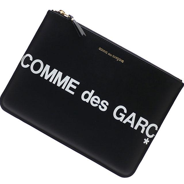新品 コムデギャルソン COMME des GARCONS Huge Logo Pouch クラッチバッグ ポーチ BLACK ブラック 黒 メンズ レディース 新作 288001196011