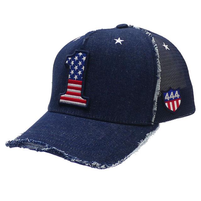 新品 ヨシノリコタケ YOSHINORI KOTAKE 1LOGO 星条旗柄 DENIM MESH CAP キャップ INDIGO インディゴ メンズ 新作 251001329017