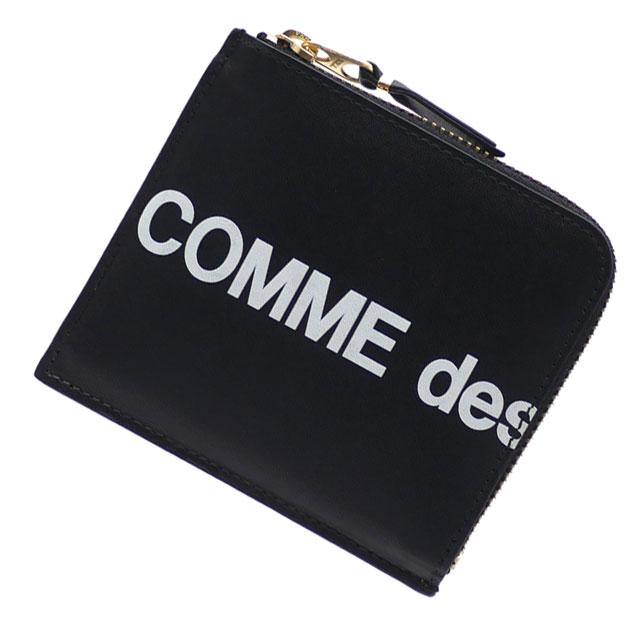 新品 コムデギャルソン COMME des GARCONS Huge Logo Coin Case コインケース BLACK ブラック 黒 メンズ レディース 新作 272000177011