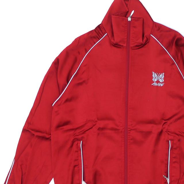 新品 ニードルズ NEEDLES x アウグ AWGE Piping Track Jacket パイピング トラック ジャケット RED レッド 赤 メンズ 新作 228000169133