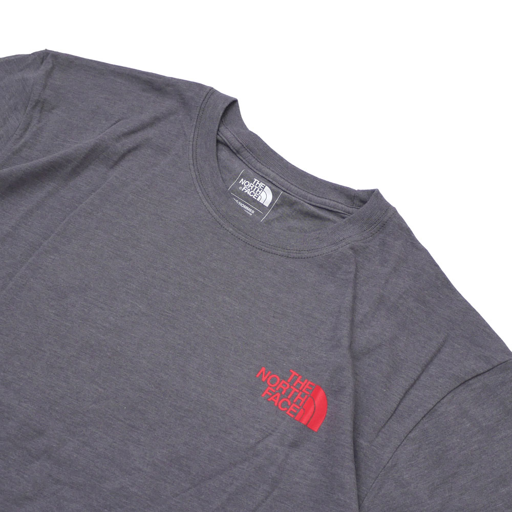 d2bab1f138 New overseas limited the North Face THE NORTH FACE RED BOX TEE T-shirt GREY  RED gray red men 999005937032