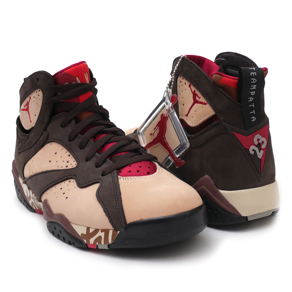 2066d9654a3 NIKE : AIR JORDAN 7 RETRO PATTA SHIMMER/ TOUGH RED-VELVET BROWN AT3375-