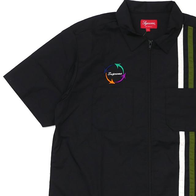 魅力的な価格 新品 シュプリーム SUPREME 黒 Zip 半袖シャツ Up S/S Work Shirt シュプリーム 半袖シャツ BLACK ブラック 黒 メンズ 新作:Cliff Edge, シモノセキシ:7757ea7f --- nagari.or.id