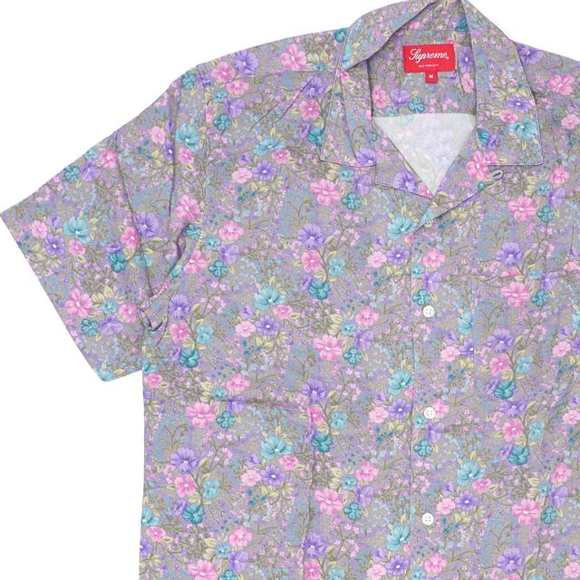 新品 シュプリーム SUPREME Mini Floral Rayon S/S Shirt レーヨン 半袖シャツ DUSTY PURPLE パープル メンズ 新作