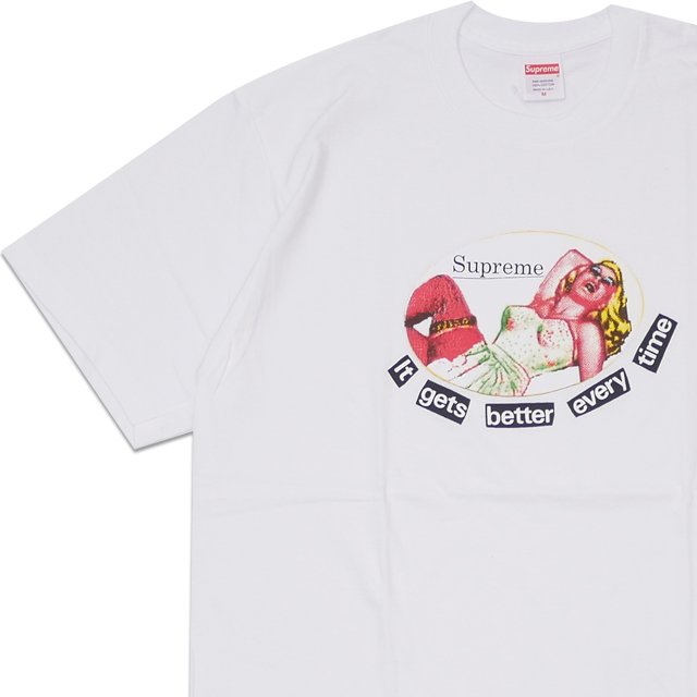 ba90474faf3e New シュプリーム SUPREME 19SS It Gets Better Every Time Tee T-shirt WHITE white  white