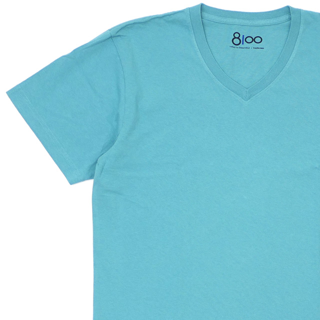 新品 ロンハーマン Ron Herman 8100 エイティーワンハンドレッド V-NECK TEE Tシャツ TEAL ティール メンズ 新作
