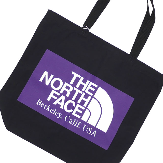 新品 ザ・ノースフェイス パープルレーベル THE NORTH FACE PURPLE LABEL Logo Print Tote トートバッグ BLACK ブラック 黒 新作 NN7954N