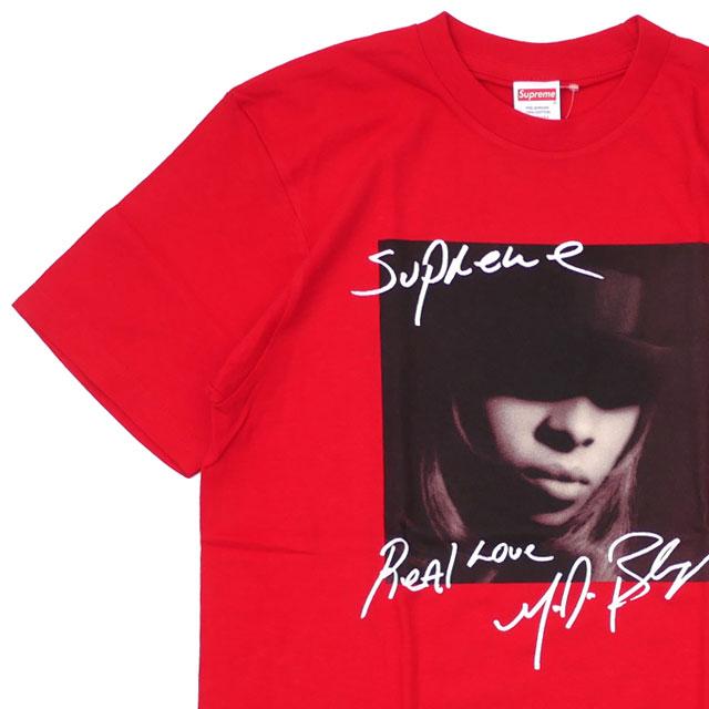 【14:00までのご注文で即日発送可能】 新品 シュプリーム SUPREME Mary J. Blige Tee メアリー・J・ブライジ Tシャツ RED レッド 赤 メンズ 新作