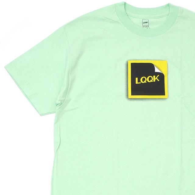 新品 ルックスタジオ LQQK STUDIO PEAL TEE Tシャツ LT.GREEN グリーン 緑 メンズ 新作
