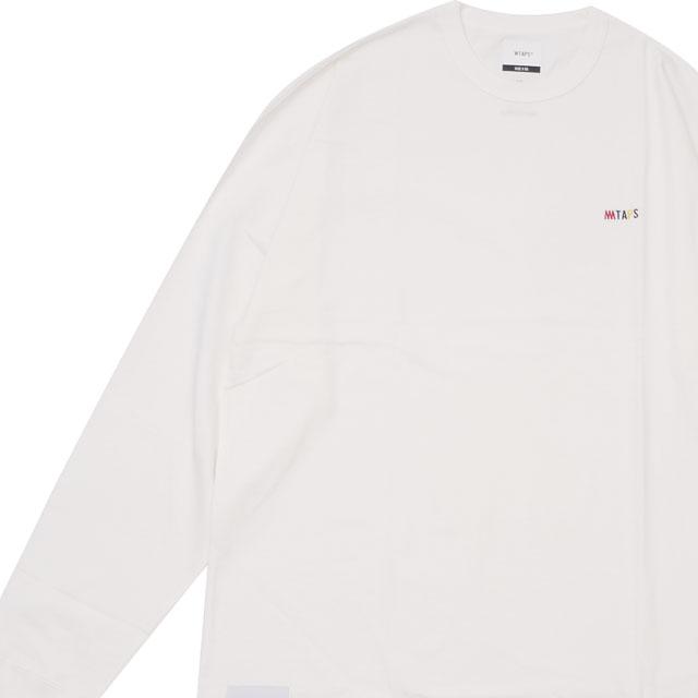 新品 ダブルタップス WTAPS x ミンナノ min-nano FLAVA LS 02 TEE 長袖Tシャツ WHITE ホワイト 白 メンズ 新作 191ATMID-CSM05S (W)TAPS
