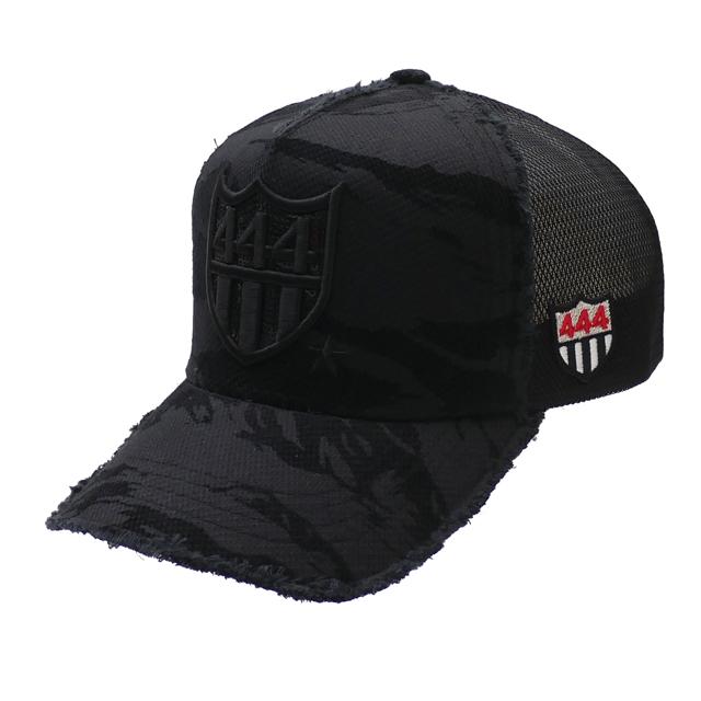 新品 ヨシノリコタケ YOSHINORI KOTAKE CAMO SPANGLES 444 LOGO MESH CAP キャップ BLACK ブラック 黒 メンズ 新作