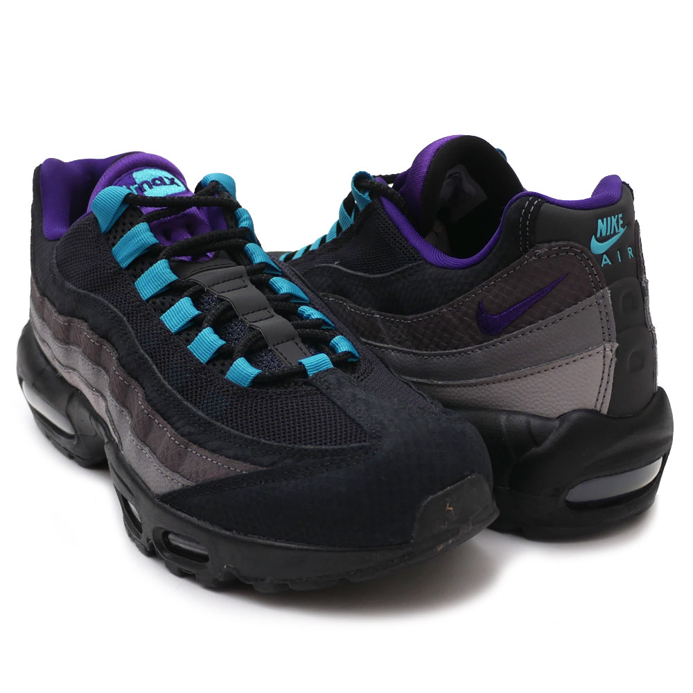 大人気新作 新品 ナイキ NIKE AIR MAX 95 LV8 エアマックス95 BLACK/COURT PURPLE-TEAL NEBULA AO2450-002 メンズ, etsuka international 3a323685