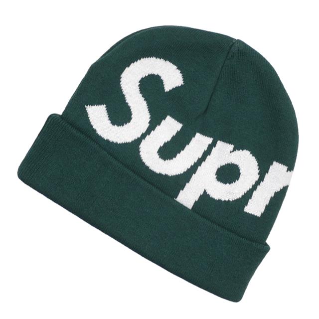新品 シュプリーム SUPREME Big Logo Beanie ビーニー GREEN グリーン 緑 メンズ 新作