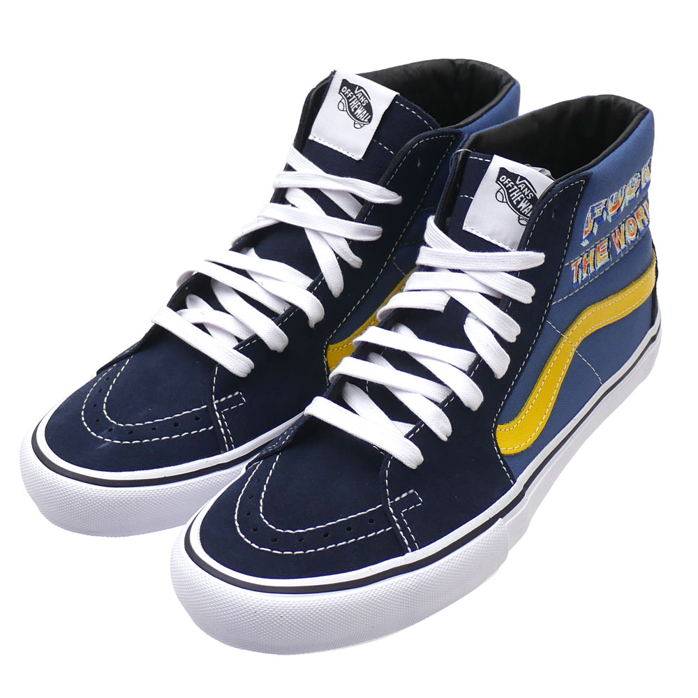 New シュプリーム SUPREME x vans VANS 19FW FTW Sk8 Hi skating high NAVY navy dark blue men 2019FW 19AW 2019AW new work 418000898267