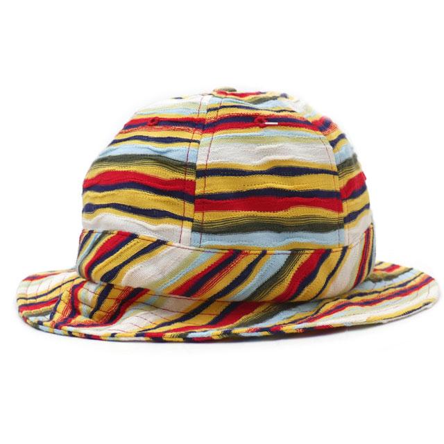 新品 シュプリーム SUPREME Textured Stripe Bell Hat ベル ハット RED レッド メンズ レディース 新作