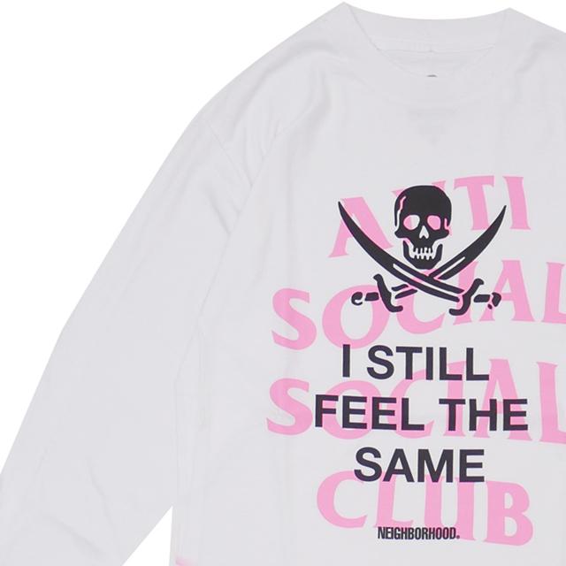 新品 ネイバーフッド NEIGHBORHOOD x アンチソーシャルソーシャルクラブ Anti Social Social Club ASSC/C-TEE.LS 長袖Tシャツ WHITE ホワイト メンズ 新作 192GEASN-LTM01S