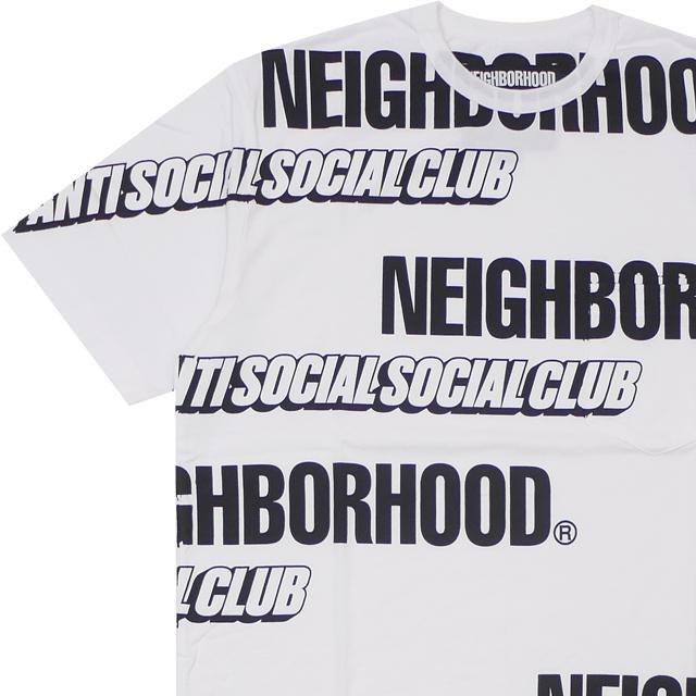 新品 ネイバーフッド NEIGHBORHOOD x アンチソーシャルソーシャルクラブ Anti Social Social Club ASSC/C-CREW.SS Tシャツ WHITE ホワイト メンズ 新作 192MBASN-CSM02S