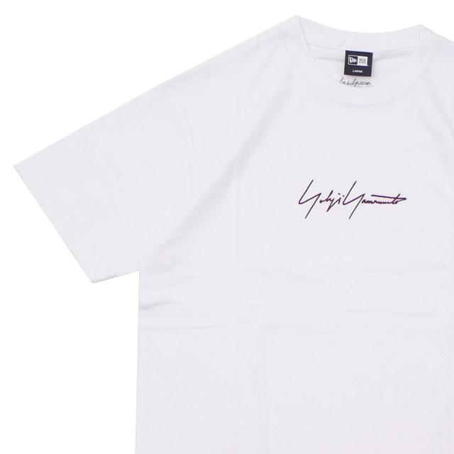 新品 ヨウジヤマモト Yohji Yamamoto x ニューエラ NEW ERA S/S Cotton Tee Tシャツ WHITExBROWN メンズ レディース 新作