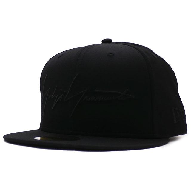 新品 ヨウジヤマモト Yohji Yamamoto x ニューエラ NEW ERA YY SIGN 59FIFTY CAP キャップ BLACKxBLACK メンズ レディース 新作