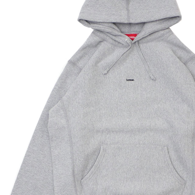 新品 シュプリーム SUPREME Micro Logo Hooded Sweatshirt パーカー GRAY グレー 灰色 メンズ 新作