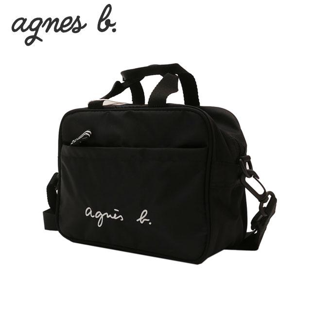 新品 アニエスベー アンファン agnes b. ENFANT 2WAY ロゴ刺繍 ショルダーバッグ BLACK ブラック 黒 レディース 新作