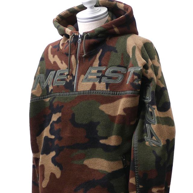新品 シュプリーム SUPREME Polartec Half Zip Hooded Sweatshirt ポーラテック フーディー パーカー WOODLAND CAMO メンズ 新作