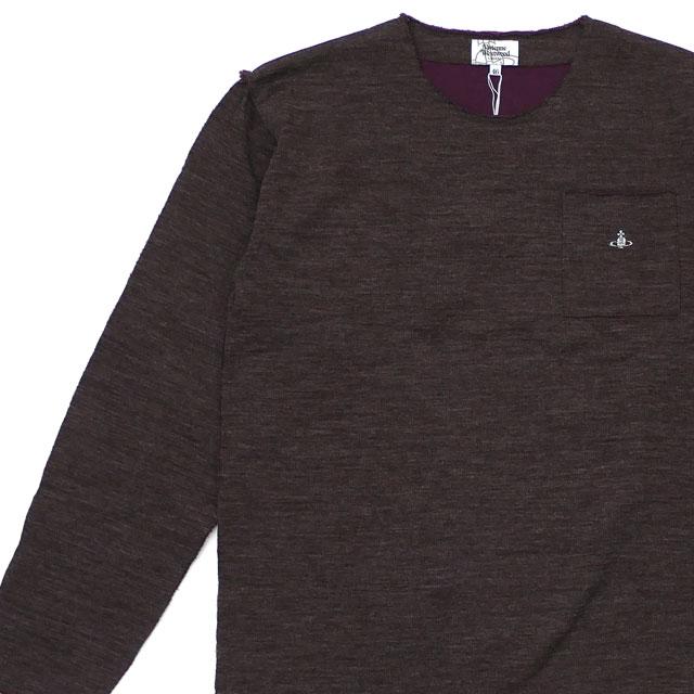 新品 ヴィヴィアン・ウエストウッド Vivienne Westwood ワンポイントORB カットオフ長袖Tシャツ BROWN ブラウン 茶 メンズ 新作