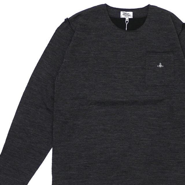 新品 ヴィヴィアン・ウエストウッド Vivienne Westwood ワンポイントORB カットオフ長袖Tシャツ BLACK ブラック 黒 メンズ 新作