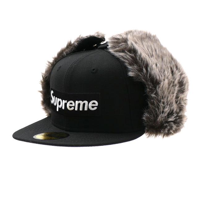 新品 シュプリーム SUPREME Earflap New Era ニューエラ ボックスロゴ キャップ BLACK ブラック 黒 メンズ 新作