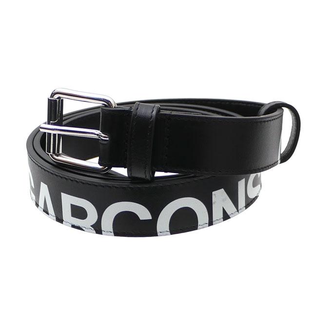 新品 コムデギャルソン COMME des GARCONS Huge Logo Leather Belt ベルト BLACK ブラック 黒 メンズ 新作