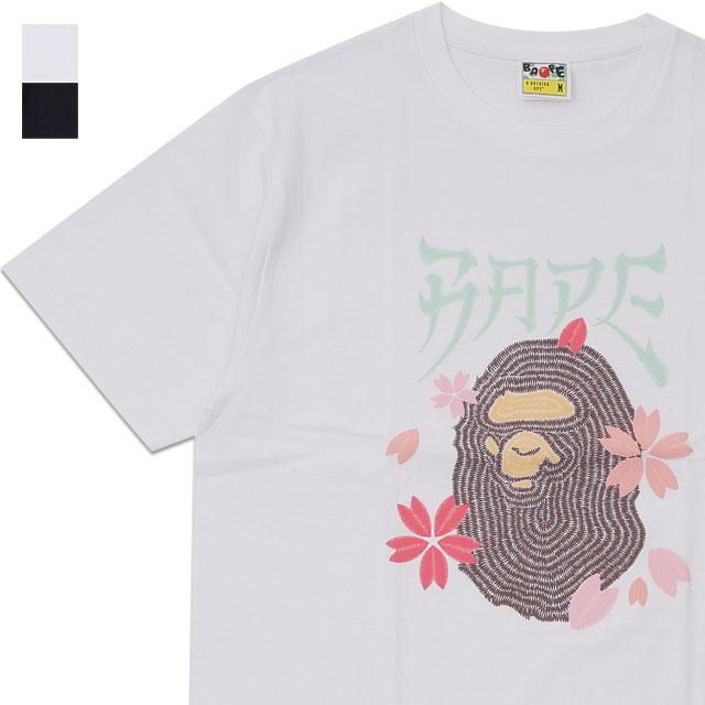 新品 エイプ A BATHING APE 20SS EMBROIDERY STYLE SAKURA APE HEAD TEE Tシャツ メンズ 2020SS 新作 1G30110082