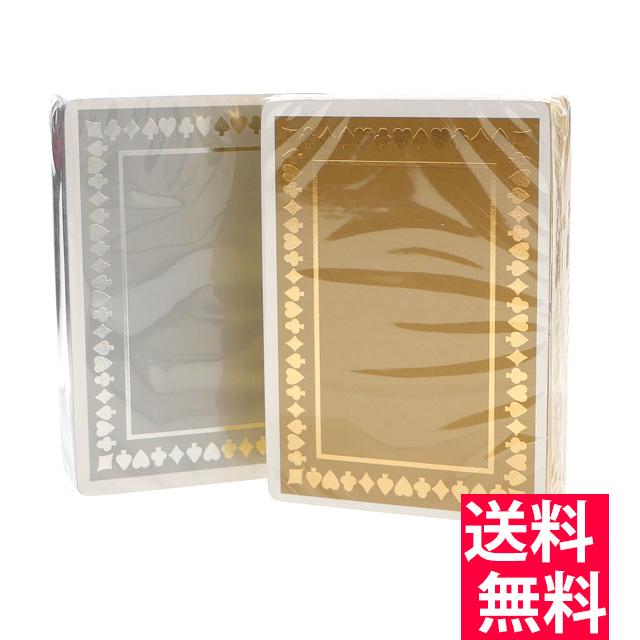 新品 ティファニー TIFFANY&CO. メタリック プレイング カード 2セット トランプ SILVER&GOLD シルバー&ゴールド メンズ レディース