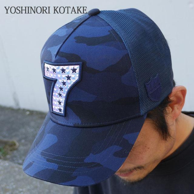 新作 ニューヨーク 新品 ヨシノリコタケ バーニーズ CAP HOLOGRAM ネイビー NAVY キャップ NEWYORK メンズ BARNEYS KOTAKE 7LOGO x MESH YOSHINORI
