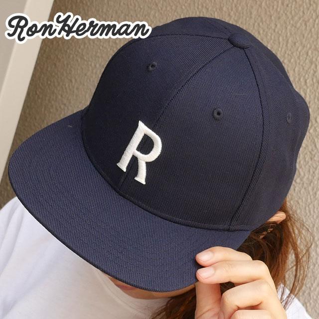 キャップ Ron R ネイビー メンズ 新作 RHC ロンハーマン 新品 LOGO CAP Herman 紺 NAVY