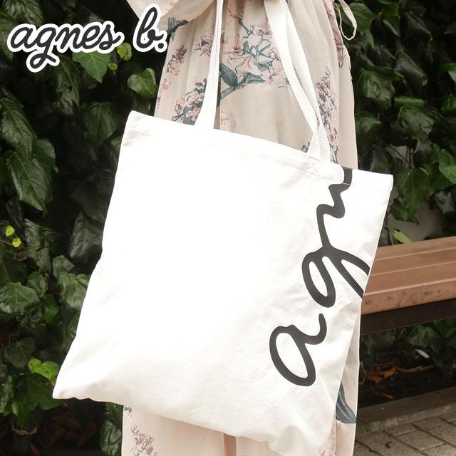 新品 アニエスベー ボヤージュ agnes b. VOYAGE NS05B-01 ロゴトートバッグ WHITE ホワイト 白 レディース 新作