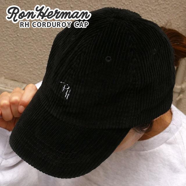新品 ロンハーマン Ron Herman RH CORDUROY CAP キャップ BLACK ブラック 黒 メンズ レディース 新作