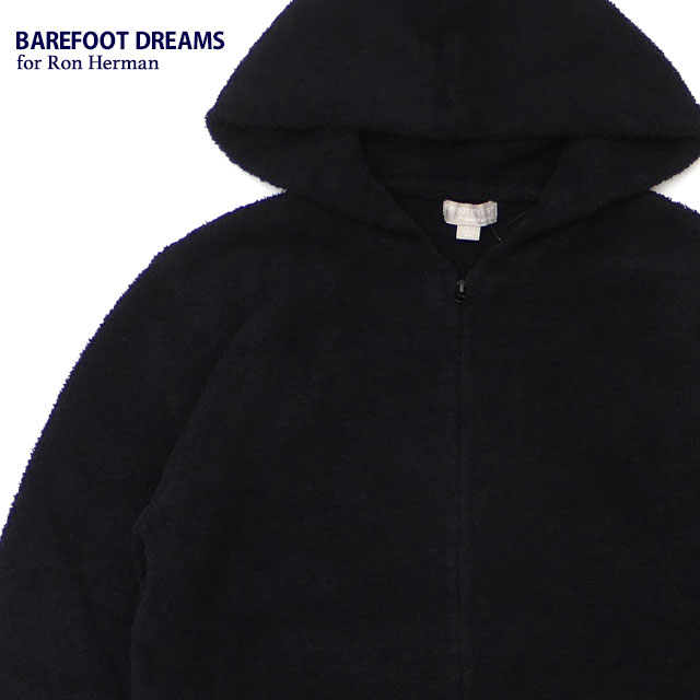 新品 ベアフットドリームス ロンハーマン BAREFOOT DREAMS for Ron Herman COZYCHIC 3.5YARN Solid Hoodie パーカー BLACK メンズ レディース 新作:Cliff Edge