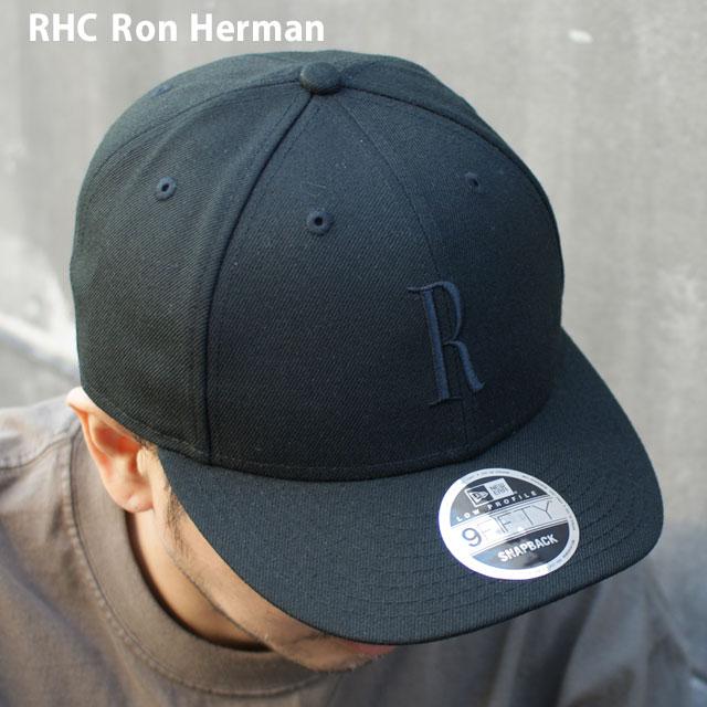 ロンハーマン おトク Ron Herman 100%安心保証 当店取扱い商品は全て本物 正規商品 販売数激少 新品 RHC x ニューエラ 奉呈 NEW メンズ 黒 R ブラック キャップ 9FIFTY レディース 新作 BLACK ERA CAP